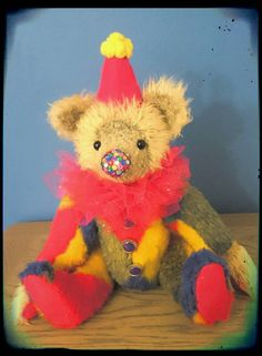 Check out this item in my Etsy shop https://www.etsy.com/uk/listing/479341773/raffles-clown-large-faux-mohair-fully