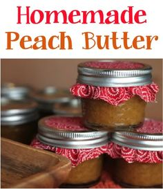Crockpot Peach Butter Recipe! #crockpot #slowcooker #recipes..ADDED HONEY AND USED APPLE PIE SPICE (WE DON'T CARE FOR CLOVES)
