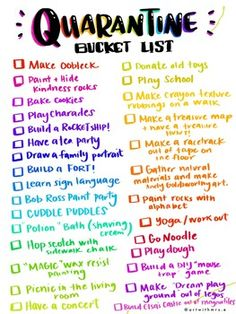 Bucket List: Looking for some fun and easy activities to do while you're home with your kiddos? Here is a free PDF with some Quarantine bucket list activities. Things To Do At A Sleepover, Fun Sleepover Ideas, Things To Do At Home, Stuff To Do, Sleepover Activities, Teen Sleepover, Sleepover Party Games, Summer Bucket List For Teens, Summer Fun List