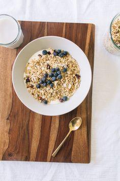 maple quinoa granola breakfast