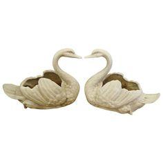 Pair of Lovely Vintage Swan Planters....xx tracy porter. poetic wanderlust. xx