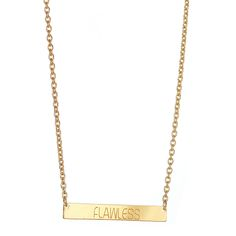 FLAWLESS BAR NECKLACE.