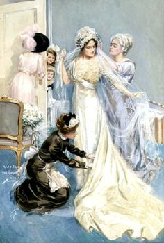 Harrison Fisher (1877-1934) — Preparations for the Wedding, 1912  (538x800)