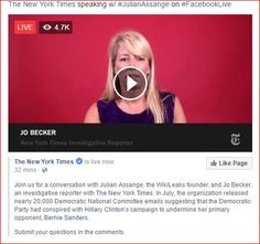 The New York Times speaking w/ #JulianAssange on #FacebookLive https://www.facebook.com/LiveMediaGuide/posts/684455078370398