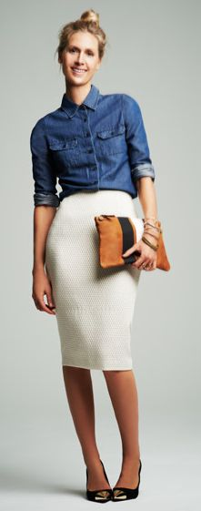 MIX 'em...  look in your closet for an old polo shirt and pair it w/ a nice form-fitting skirt -Louie