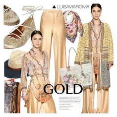 """""""Bohemian Gold"""" by luisaviaroma ❤ liked on Polyvore featuring Etro"""