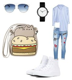 """top"" by giselaturca on Polyvore featuring Converse, Pusheen and Christian Dior"