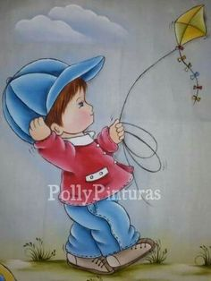 PINTURA Baby Painting, Tole Painting, Fabric Painting, Baby Applique, Applique Patterns, Girl Drawing Sketches, Drawings, Coloring Books, Coloring Pages