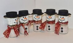 Baby food jars to snowmen