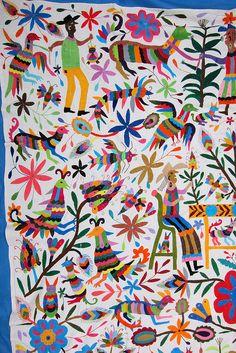 Otomi indian embroidery from Tenango de Doria Hidalgo bdc0ef11a6d