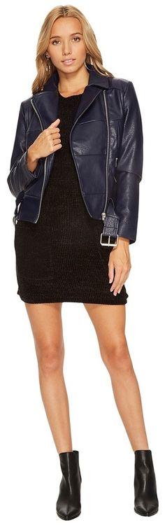 BB Dakota Maria Patchwork Moto Jacket Women's Coat