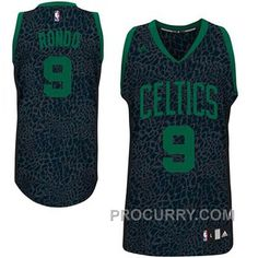 Rajon Rondo Boston Celtics  9 Crazy Light Leopard Swingman Jersey dc7fb56a8