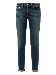 { The Skinny mid-rise skinny jeans }