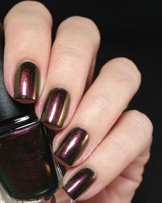 Colors by Llarowe Sherwood Forest - Fall 2014 Collection  |  Sassy Shelly   Sherwood Forest is a shimmery burgundy with red to gold to deep green color shifts.
