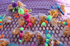 Butterfly treat bags using a clothes pin ( I made these for my daughters class spring party with colored goldfish)