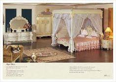 antieke italiaanse slaapkamer