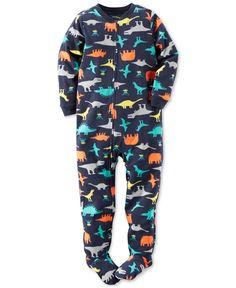 Carter's Boys' or Little Boys' One-Piece Footed Dinosaur Pajamas