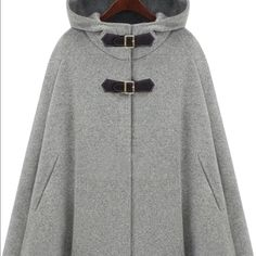 Cape jacket Only wore 2-3 times. Very cute cape jacket. Very soft Jackets & Coats Capes