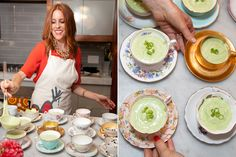 Serve Soup to party guests in your fancy tea cups!