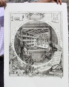 Signed limited edition etching by Quinlan Terry CBE and Francis Terry, award winning architects, for composer Gian Carlo Menotti