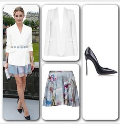 Olivia Palermo can do no wrong! Recreate this Parisian Chic Look: Blazer (#AliceAndOlivia Long Tuxedo Blazer) available at www.aliceandolivia.com at $396. Skirt (#Chalayan floral-print cotton-terry skirt) available at www.net-a-porter.com at $420. Pumps are an investment piece - (#Casadei Platform Pumps Collection Spring-Summer) available at www.thecorner.com at $690. #YouGotItRight #OliviaPalermo #Itgirl #celebrity #styleicon #classy #chic #elegant #lady #beautiful #celebritycrush…