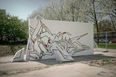 Sketch 3D DAIM Graffiti Sculpture by Mirko Reisser