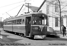 LEHIGH  VALLEY  TRANSIT  INTERURBAN  CAR  BUILT BY CINCINNATI  CAR  CO.