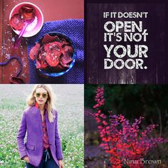 If it doesn't open, it's not your door. Beautiful Collage, Beautiful Words, Christian Facebook Cover, Quote Collage, Chalk Paint Colors, Mood Colors, Color Quotes, Moody Blues, Special Quotes