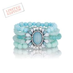 On sale now!!!! This won't last! Shoreside Beaded Stretch Bracelet. Soft seafoam loveliness! Order at www.chloeandisabel.com/boutique/lisab today! Limited Edition!