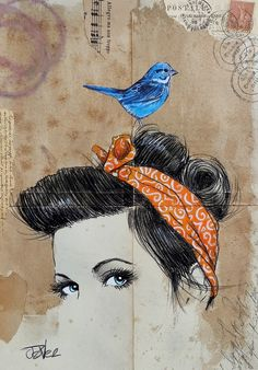 bird on a wire by Loui  Jover