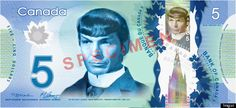 Spock And Snape Canadian $5 Bills Are Sadly Doomed (PHOTOS)