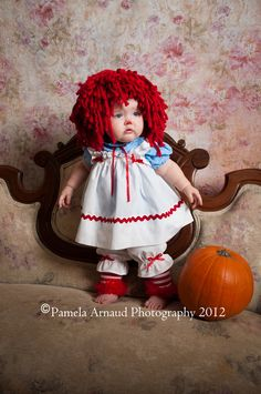 Toddler girl costume. Raggedy Anne.