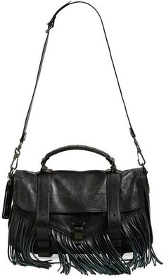 $1,795, Proenza Schouler Medium Ps1 Fringed Leather Satchel. Sold by Nordstrom. Click for more info: https://lookastic.com/women/shop_items/94626/redirect