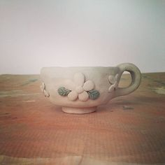 Tea time #modelage #argile #clay #céramique #ceramic #poterie #flower #tea #teacup