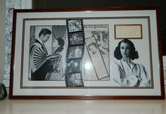 VIVIEN LEIGH Original Hand Signed AUTOGRAPH Framed Photo Gone with the Wind