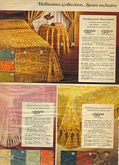 "1971 sears catalog: curtains, bedding ""warning: prolonged visual"