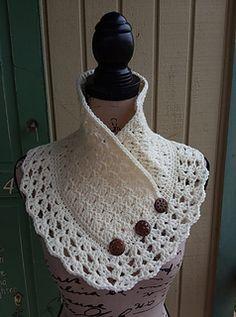 Ravelry: Pam& Ombre Cowled Neckwarmer pattern by Pamela Mazzola - Luna Lu Crochet Free Crochet, Knit Crochet, Crochet Hats, Crochet Mandala, Crochet Afghans, Crochet Blankets, Double Crochet, Crochet Shawls And Wraps, Crochet Scarves