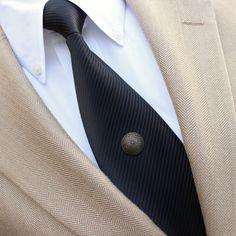 Bronze Tie Tack Mens Tie Tack Mens Tie Pin by PetalPerceptions