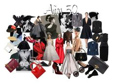 """Años 50- 50´s"" by stacey-liz on Polyvore featuring moda, Christian Dior, Assouline Publishing, Givenchy, Carolina Herrera, Michael Kors, Gucci, Chloé, ZeroUV y Alexander McQueen"