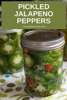 Love the hot and spicy flavors of pickled jalapeno peppers? Pickled peppers are easy to make from garden fresh peppers or store bought. Stock the pantry this summer with this favorite pickled pepper. Jelly Recipes, Jam Recipes, Canning Recipes, Pickled Jalapeno Peppers, Stuffed Jalapeno Peppers, Easy Canning, Homemade Pickles, Pantry, Spicy