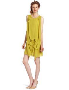 HALSTON HERITAGE Women's Draped Dress, Straw, 2 | Traveling Of Life