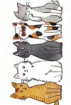 Watercolor Bookmarks, Watercolor Art, Dog Mom, Doodle Art, Cat Doodle, Book Markers, Cat Quilt, Cat Cards, Cat Drawing