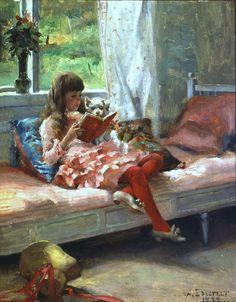 Artist's Sister Bertha - Albert Edelfelt  1882
