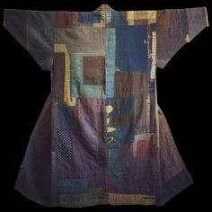 Cotton boro kimono from Japan's Tohoku- North west region of Japan About late 19th century