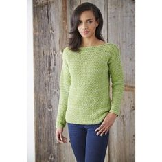 Patons Boat Neck Pullover Free Crochet Pattern. Skill Level: Easy A timeless Spring classic, this boat neck pullover has a bit of added sparkle, crocheted in Patons Glam Stripes. Free Pattern More Patterns Like This!