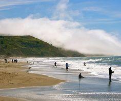 beautiful beaches: Stinson Beach, CA