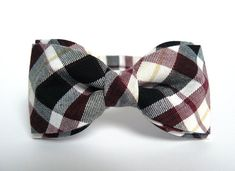 Men's Bow Tie burgundy and black