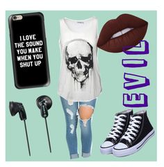 Long Live Evil by bugzbplays on Polyvore featuring polyvore, fashion, style, Casetify, Sony, Lime Crime and clothing