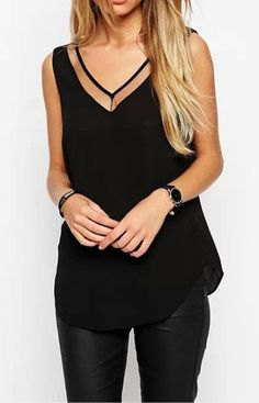 V Front Blouse – Trendy Road