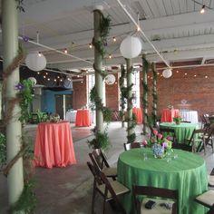 Carey Roberts Design, floral, flower arrangement, design, wedding, event, garland, peach, green, lanterns